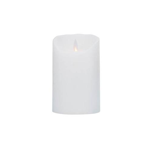 Image of LeveLys LED Stearinlys Ø8x12,5 hvid frostet