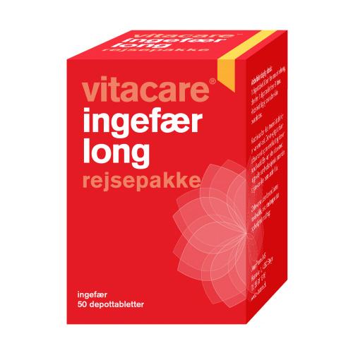 Ingefær long rejsepakke VitaCare - 50 tab.