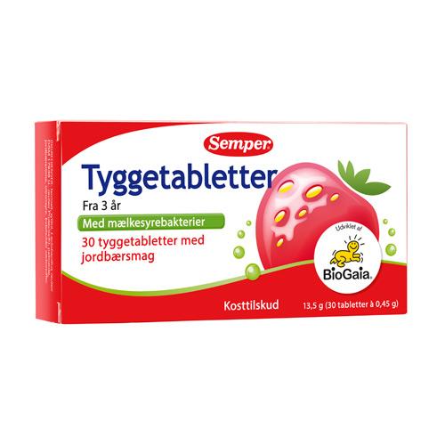 Image of BioGaia tyggetabletter fra Semper - 30 stk.