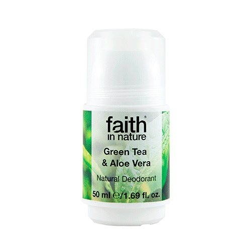 Image of   Faith in Nature Roll on Aloe Vera & Grøn Te (50 g)