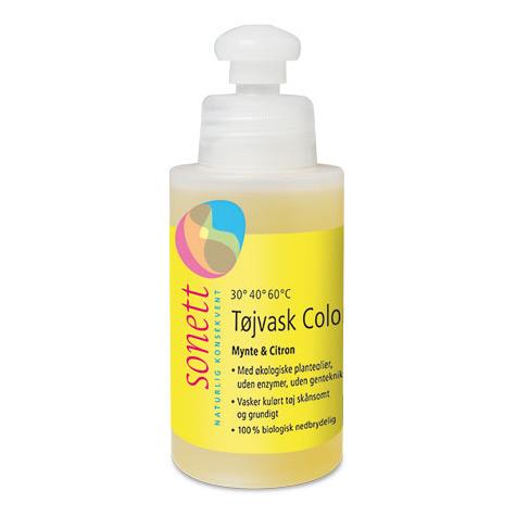 Image of Sonett Tøjvask color med mynte & citron - 120 ml.