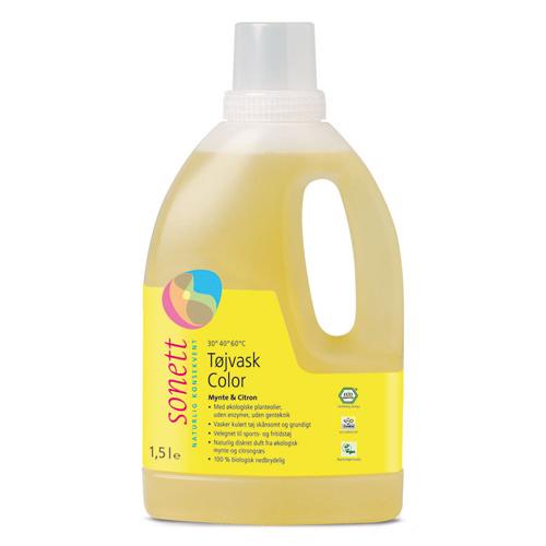 Image of Sonett Tøjvask color med mynte & citron 1,5 liter