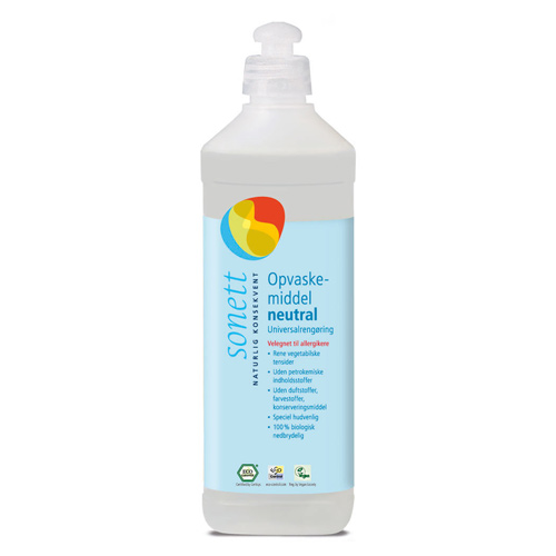 Image of Sonett Opvaskemiddel neutral - 500 ml.