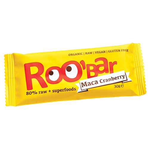 Image of Roobar raw maca & tranebær økologisk - 30 gram