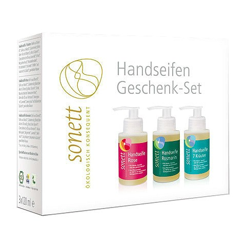 Håndsæbe gavesæt Sonett - 3 sæber a 120 ml.