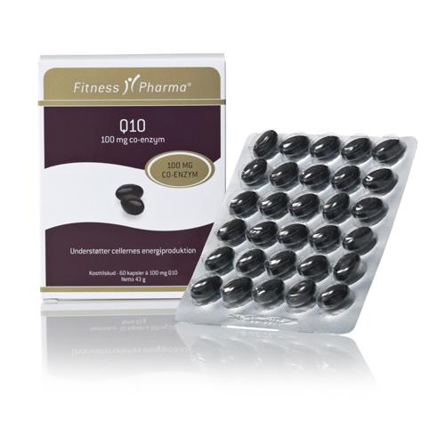 Q10 100 mg. fra Fitness Pharma - 60 kapsler
