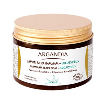 Image of   ARGANDIA Hamman Black Soap Eucalyptus 150 ml