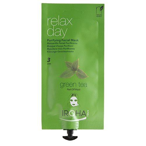 Iroha ansigtsmaske peel-off green tea - 25 gram