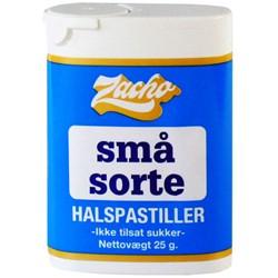 Image of Små sorte halspastiller Zacho - 25 gram