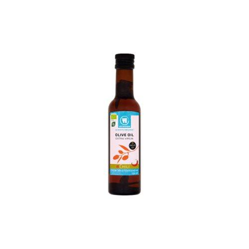 Olivenolie extra jomfru med Chili Økologisk 250 ml