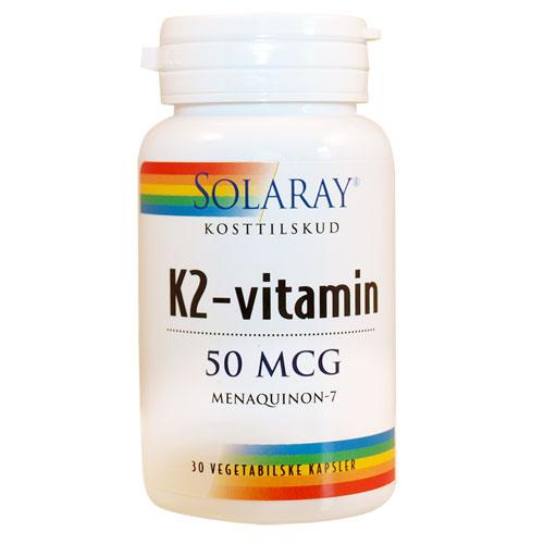 Image of K2-vitamin Solaray 50 mcg - 30 kapsler
