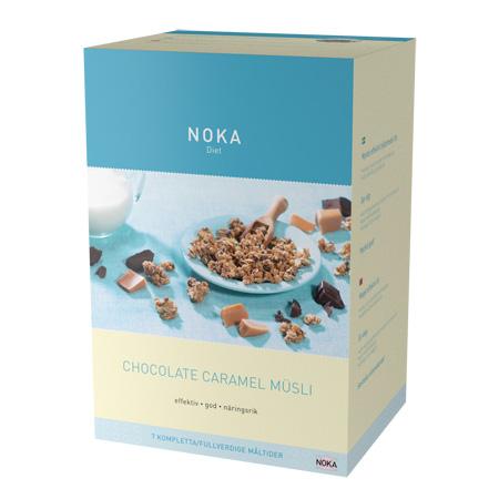 Noka Diæten Mysli chokolade karamel - 329 gram