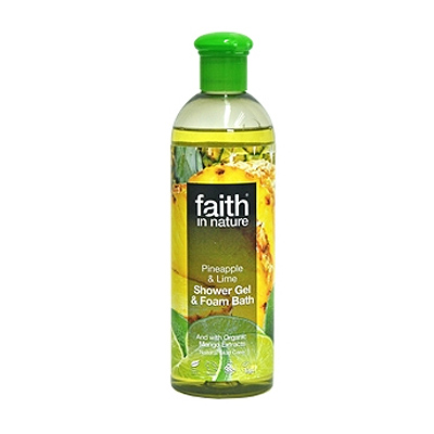 Faith in nature Showergel Ananas & Lime - 400 ml