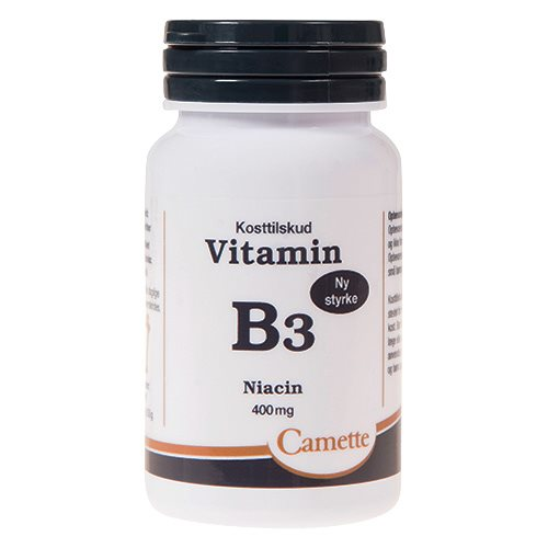 Image of   Camette Vitamin B3 niacin 400 mg (90 tab)