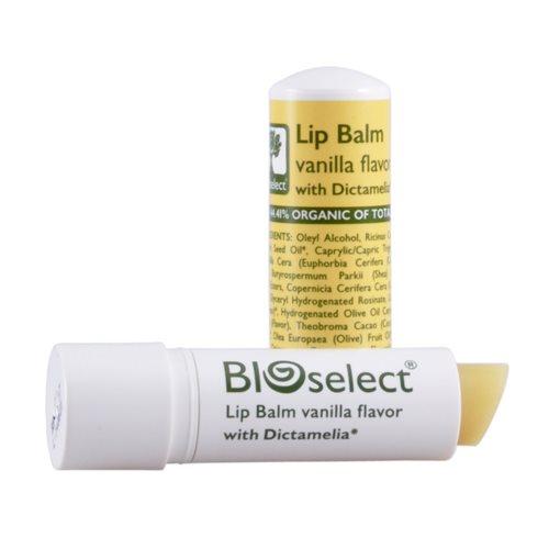 Læbepomade vanilje fra Bioselect - 4 gram