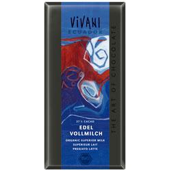 Vivani equador lys chokolade Økologisk - 100 gram