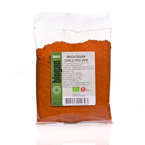 Image of   Chilipulver fra Biogan Økologisk - 100 gram
