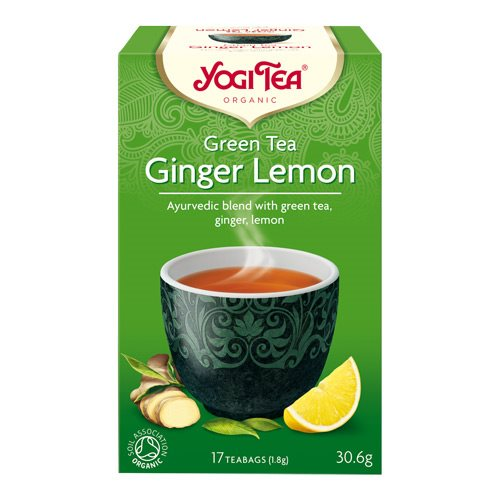 Yogi Green Tea Ginger Lemon Økologisk - 17 breve