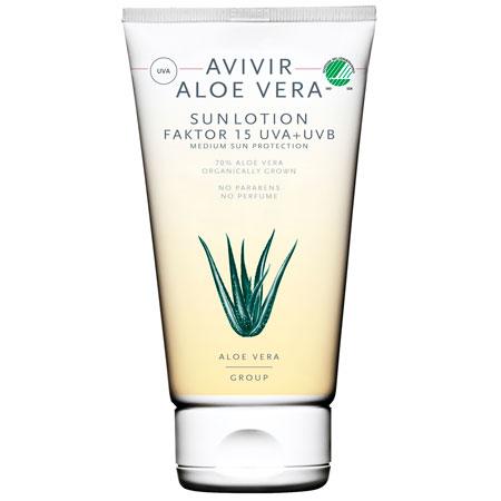 Avivir aloe vera Sunlotion faktor 15 - 150 ml.