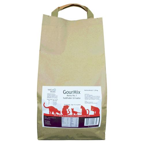Kattemad GourMix Kat menu 1 Fuldfoder - 1,25 kilo