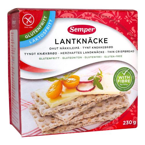 Landknækbrød glutenfrit fra Semper - 230 gram