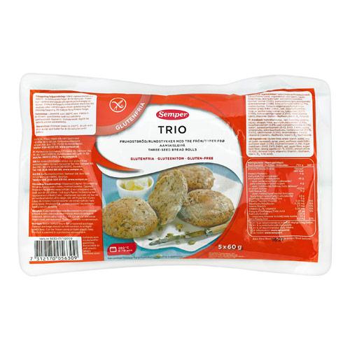 Image of Brød trio glutenfri fra Semper - 300 gram