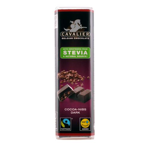 Image of Cavalier mørk chokolade sødet med stevia - 44 gram