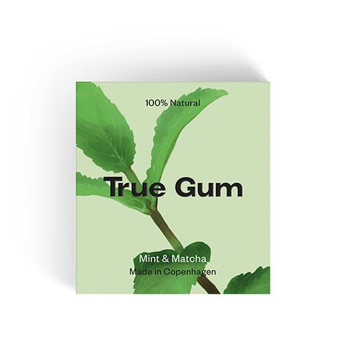 Image of   True Gum Tyggegummi Mint & Matcha (20 g)