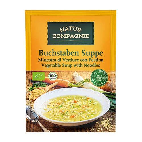 Grøntsagssuppe med pasta Økologisk - 50 gram