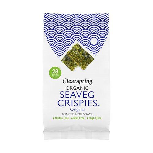 Tangchips Seaveg Crispies fra Clearspring Ø - 5 gr