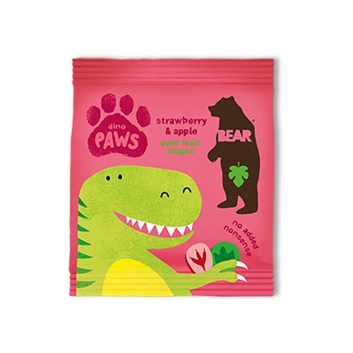 Image of Bear Dino Paws jordbær & æble - 20 gram
