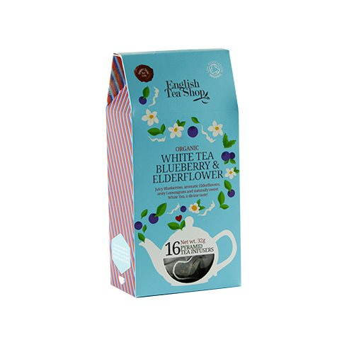 White Tea Bluberry & Elderflower Øko ETS - 16 brev