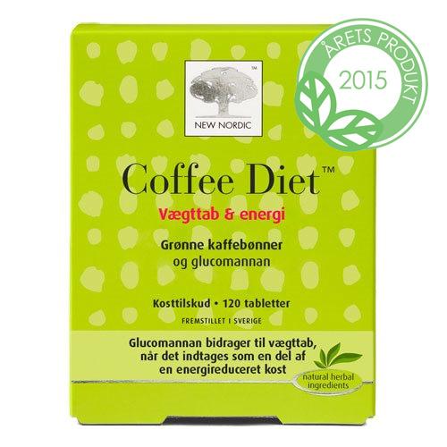 Coffee Diet med kaffebønner og glucomannan 120 tab