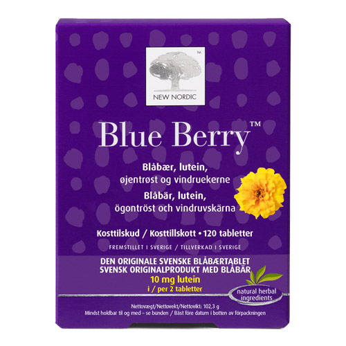 Blue Berry original fra New Nordic - 120 tabletter