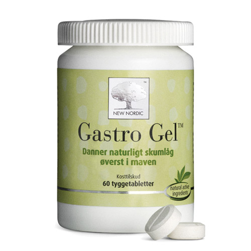 Image of   Gastro Gel 400mg - 60 tabletter