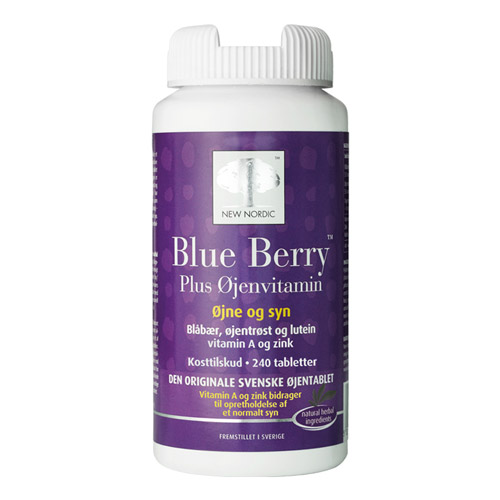 Blue Berry plus øjenvitamin 10 mg - 240 tabletter