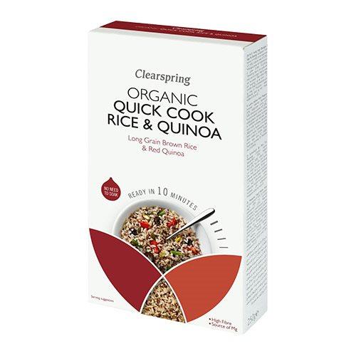 Quick Cook lange brune ris & quinoa Øko - 250 gram