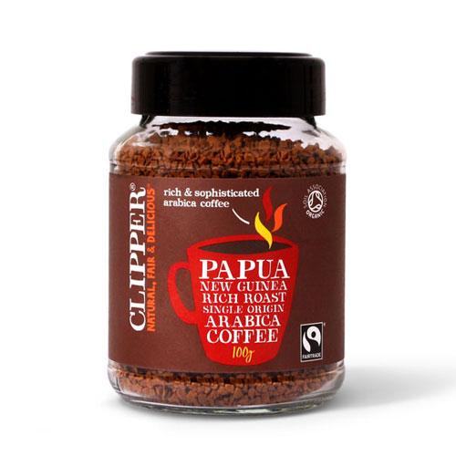 Image of   Clipper Instant kaffe papua økologisk - 100 gram