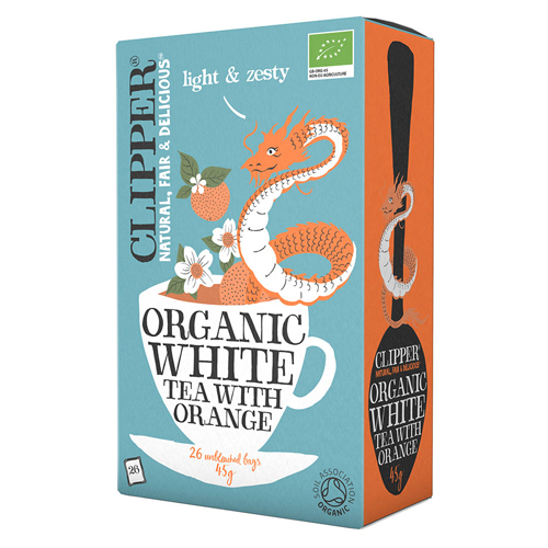 Clipper Hvid the med appelsin økologisk - 20 breve