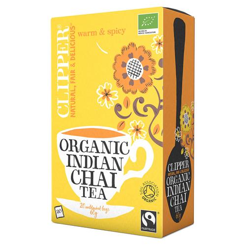 Clipper Indian chai the økologisk - 20 breve