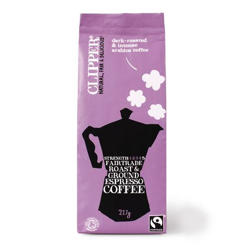 Clipper Økologisk Espresso Kaffe - 227 gram