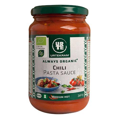 Image of   Pastasaouce chili økologisk fra Urtekram - 350 gr