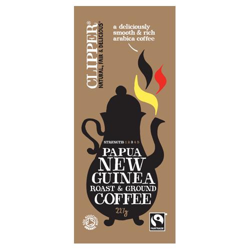 Clipper Økologisk malet kaffe New Guinea - 227 gr