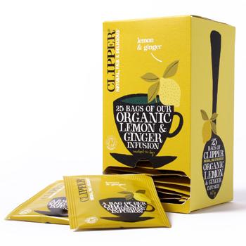 Image of   Clipper citron & ingefær økologisk te - 25 breve