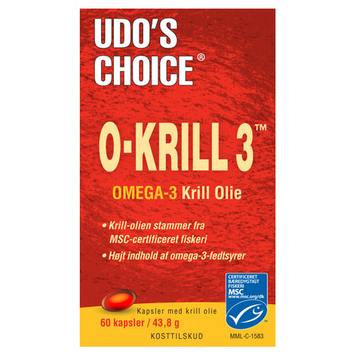 Image of   Udos choice Krill olie 500 mg - 60 kapsler
