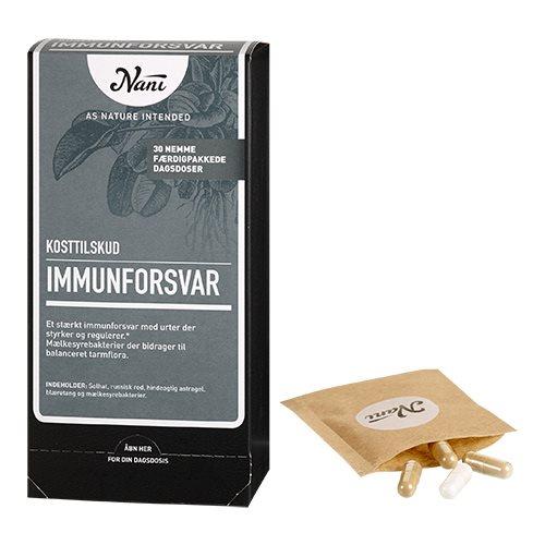 Image of   Immunforsvar helsepakke fra Nani - 30 breve