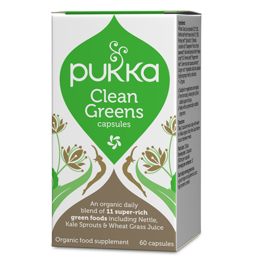 Image of   Pukka Clean Greens 400 mg Ø - 60 kapsler