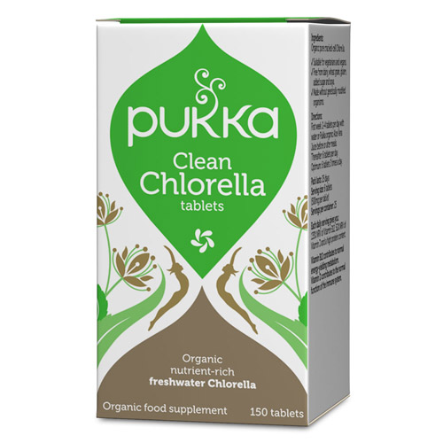 Image of   Pukka Chlorella tabletter 500 mg Ø - 150 tabletter