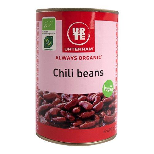 Chili beans i dåse fra Urtekram Øko - 400 gram