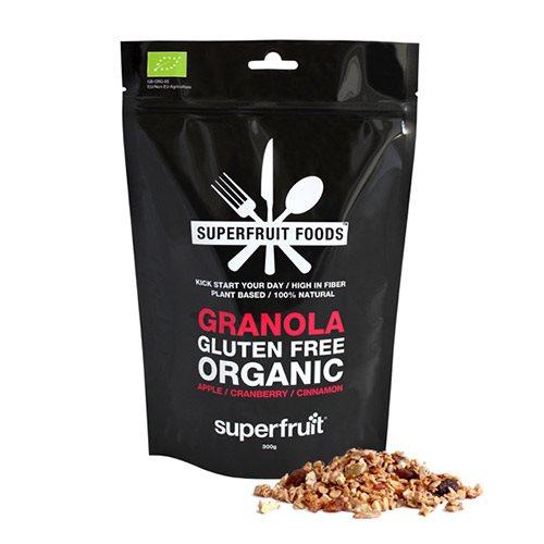 Mysli Granola med æble,  Tranebær og Kanel - EU Organic & Glutenfri